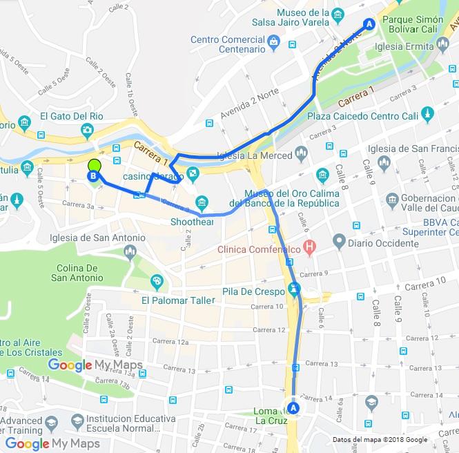 Mapa Parque el Peñon